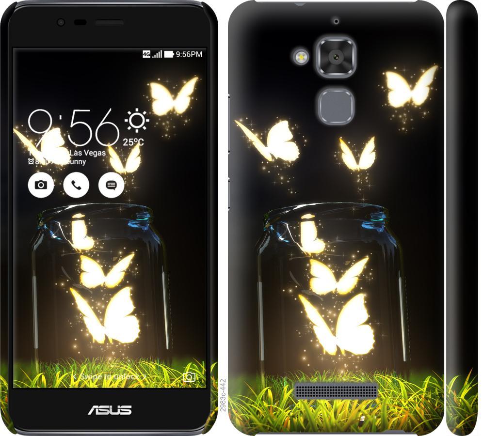 Чохол на Asus Zenfone 3 Max ZC520TL  Сяючі метелики