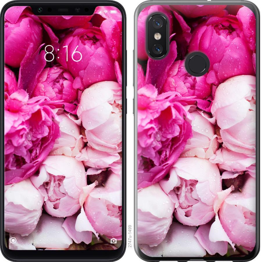Чехол на Xiaomi Mi8 Розовые пионы