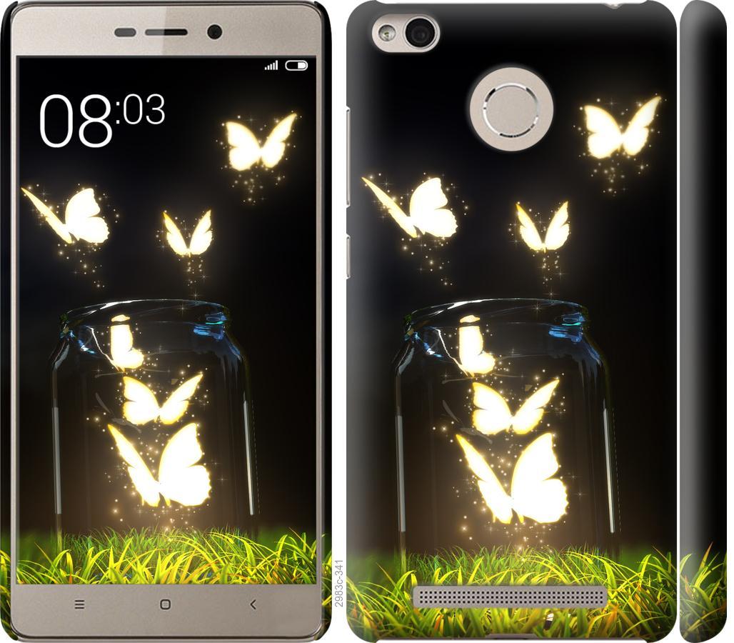 Чехол на Xiaomi Redmi 3s Бабочки