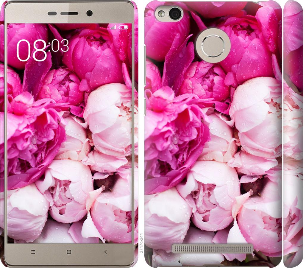 Чехол на Xiaomi Redmi 3s Розовые пионы