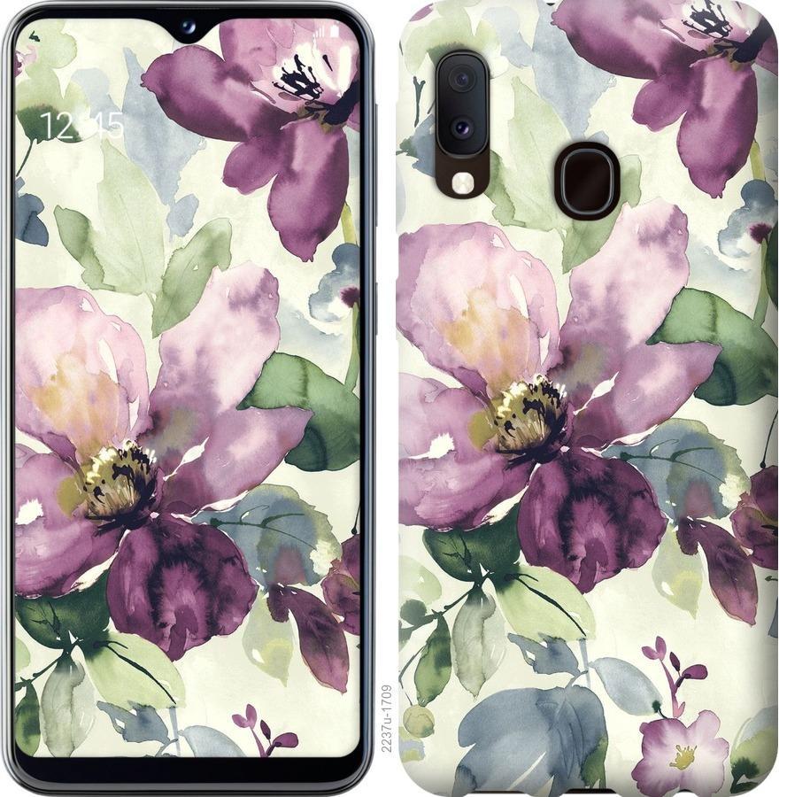 Чохол на Samsung Galaxy A20e A202F Квіти аквареллю