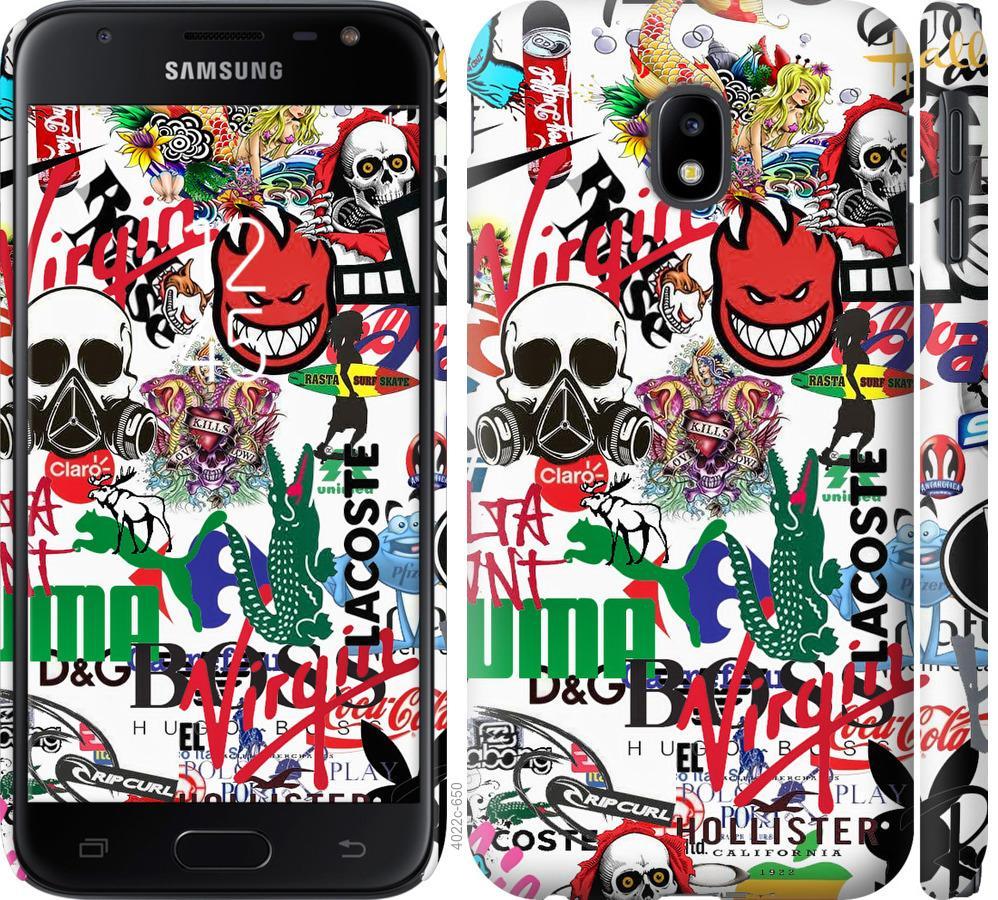 Чохол на Samsung Galaxy J3 (2017) Many different logos