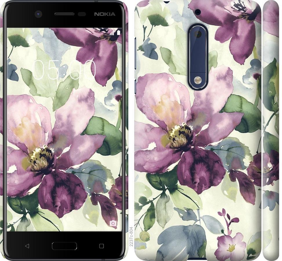 Чехол на Nokia 5 Цветы акварелью