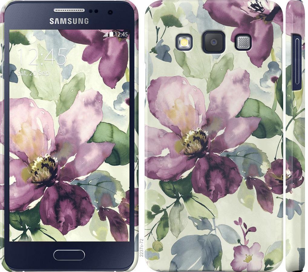 Чехол на Samsung Galaxy A3 A300H Цветы акварелью