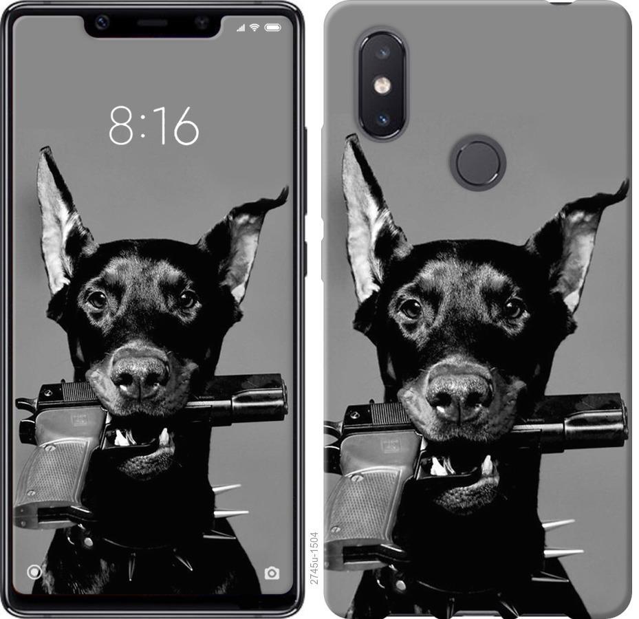 Чехол на Xiaomi Mi8 SE Доберман