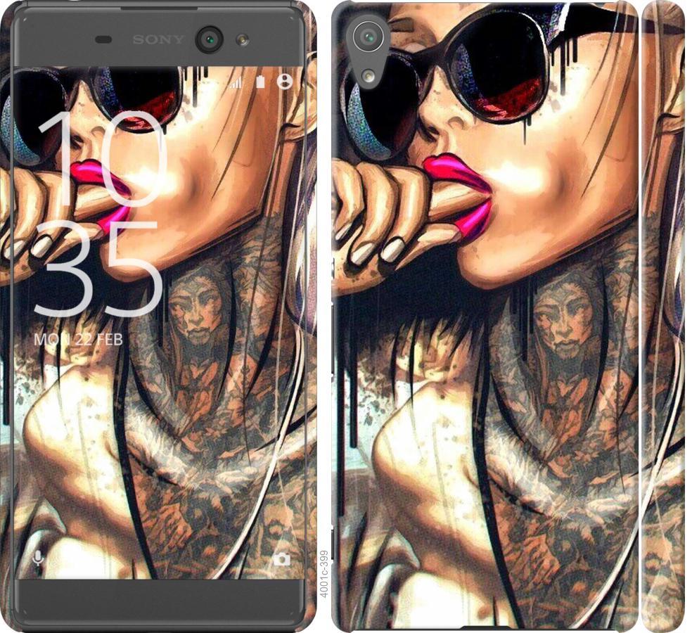 Чехол на Sony Xperia XA F3112 Девушка в тату