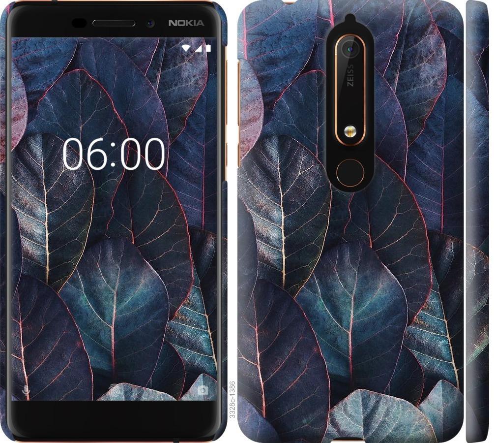 Чехол на Nokia 6 2018 Листья v3
