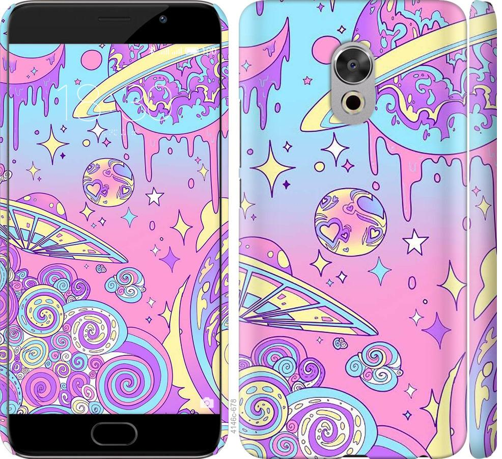 Чехол на Meizu Pro 6 Plus Розовая галактика