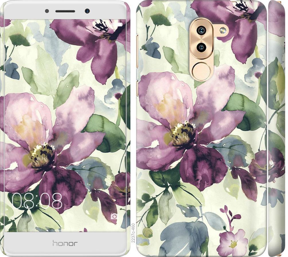Чехол на Huawei Mate 9 Lite Цветы акварелью