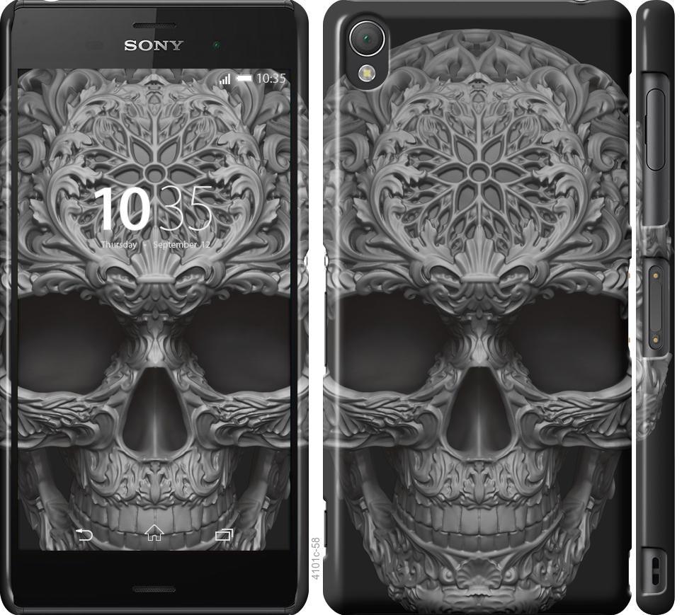 Чехол на Sony Xperia Z3 D6603 skull-ornament