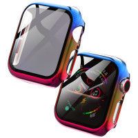 PC+Glass чехол Rainbow для Apple Watch 44mm