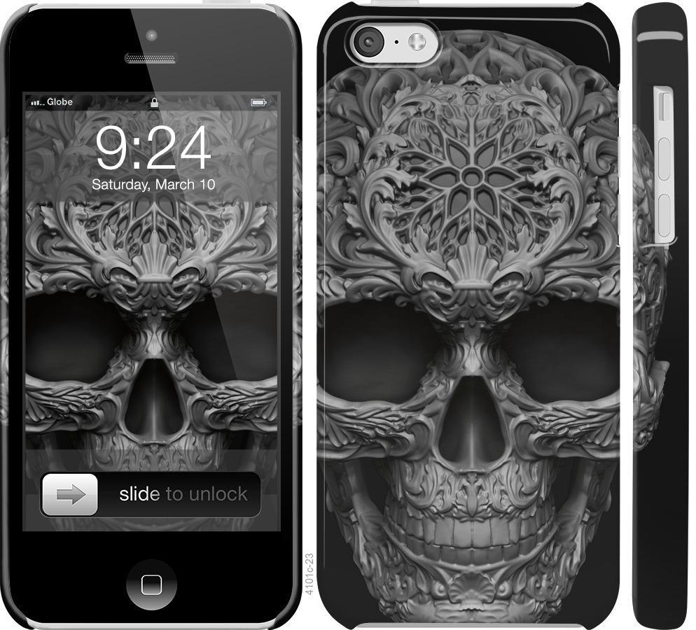 Чехол на iPhone 5c skull-ornament