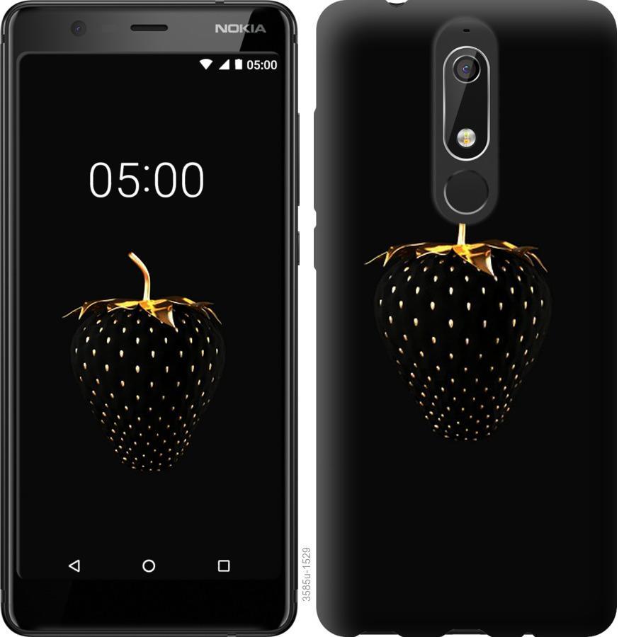 Чехол на Nokia 5.1 Черная клубника