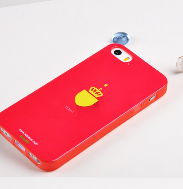Купить TPU чехол Remax World Cup 'Spain' для Apple iPhone 5/5S/SE за 199 грн