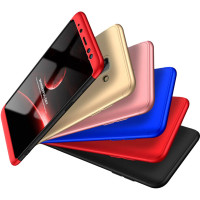 Пластиковая накладка GKK LikGus 360 градусов (opp) для Samsung A730 Galaxy A8+ (2018)