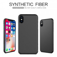 "Карбоновая накладка Nillkin Synthetic Fiber series для Apple iPhone X (5.8"") / XS (5.8"")"
