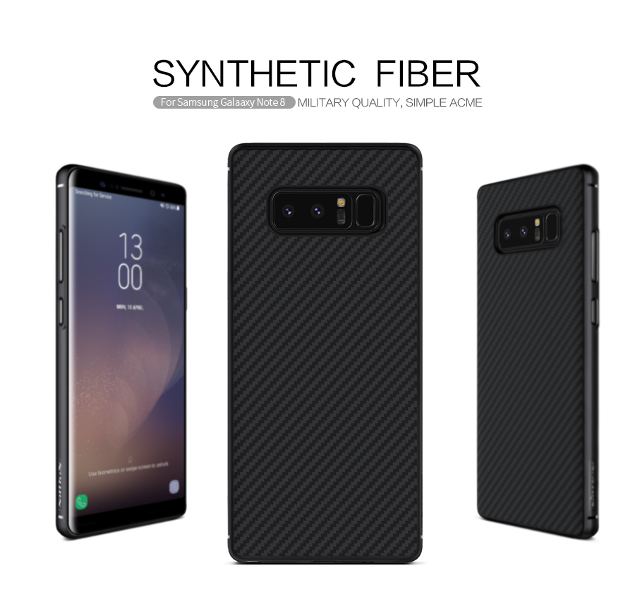 Карбонова накладка Nillkin Synthetic Fiber series для Samsung Galaxy Note 8
