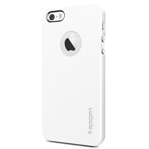 Фото Пластиковая накладка SGP Ultra Thin Air A Series для Apple iPhone 5/5S/SE Белый / Smooth White / SGP10500 на itsell.ua