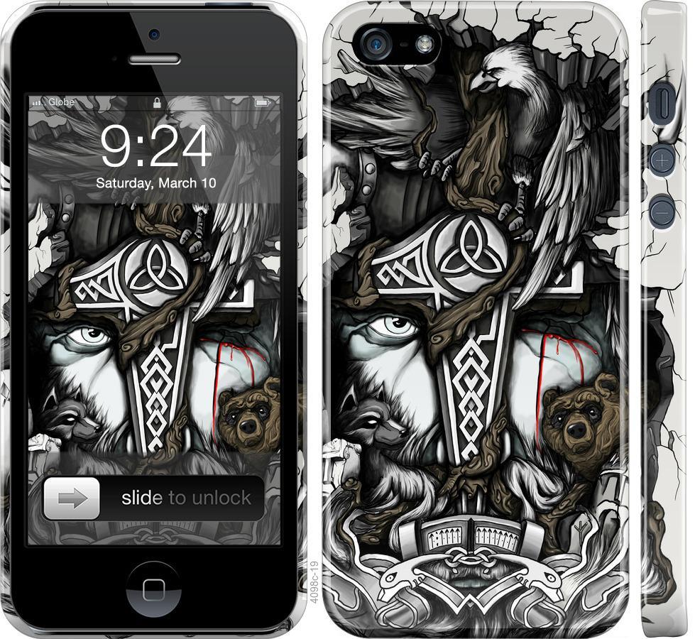 Чехол на iPhone SE Тату Викинг