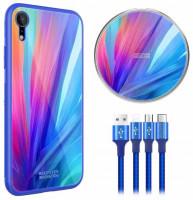 Купить Подарочный комплект Nillkin Fancy (беспроводное ЗУ + чехол Glass case для iPhone XR + кабель 3в1)