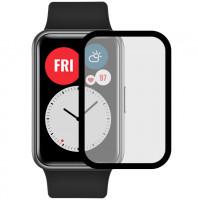 Полимерная пленка 3D (full glue) (тех.пак) для Huawei Watch Fit / Honor Watch ES