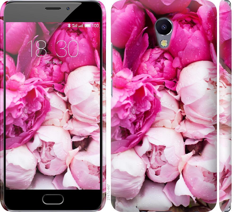Чехол на Meizu M5 Note Розовые пионы