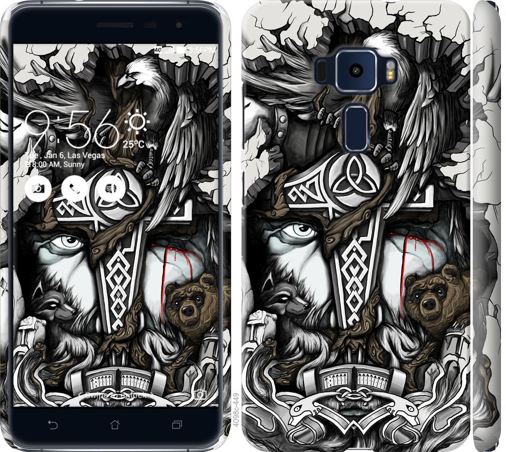 Чехол на Asus Zenfone 3 ZE520KL Тату Викинг