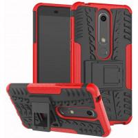 Противоударный двухслойный чехол Shield для Nokia 6.1 с подставкой