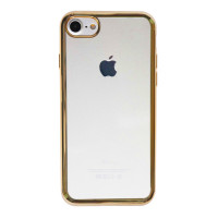 """Прозрачный силиконовый чехол для Apple iPhone 7 / 8 (4.7"""") с глянцевой окантовкой"""