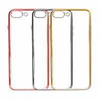 """Прозрачный силиконовый чехол для Apple iPhone 7 plus / 8 plus (5.5"""") с глянцевой окантовкой"""
