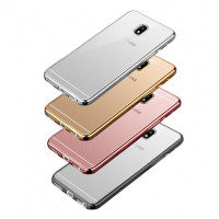 Купить Прозрачный силиконовый чехол для Samsung J730 Galaxy J7 (2017) с глянцевой окантовкой, Epik