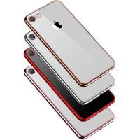 Прозрачный силиконовый чехол с глянцевой окантовкой Full Camera для Apple iPhone 7 (4.7'')