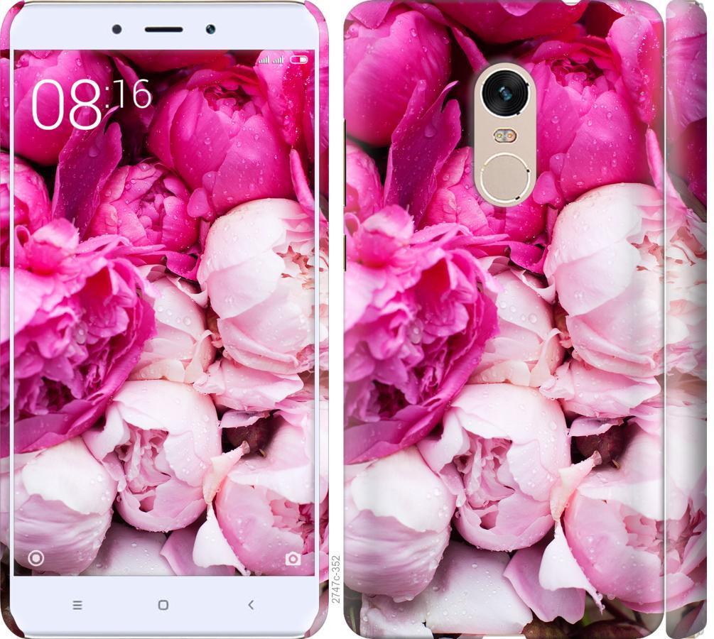 Чехол на Xiaomi Redmi Note 4 Розовые пионы
