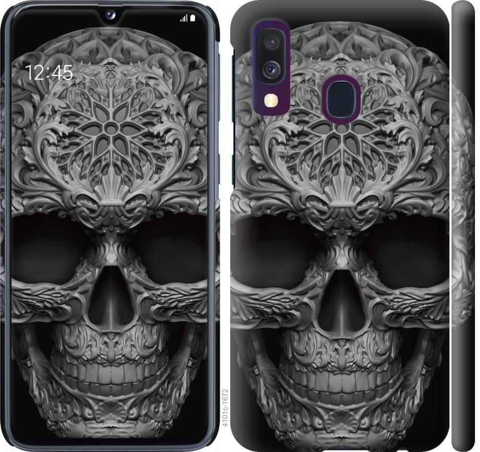 Чехол на Samsung Galaxy A40 2019 A405F skull-ornament