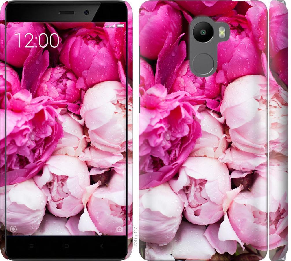 Чехол на Xiaomi Redmi 4 Розовые пионы