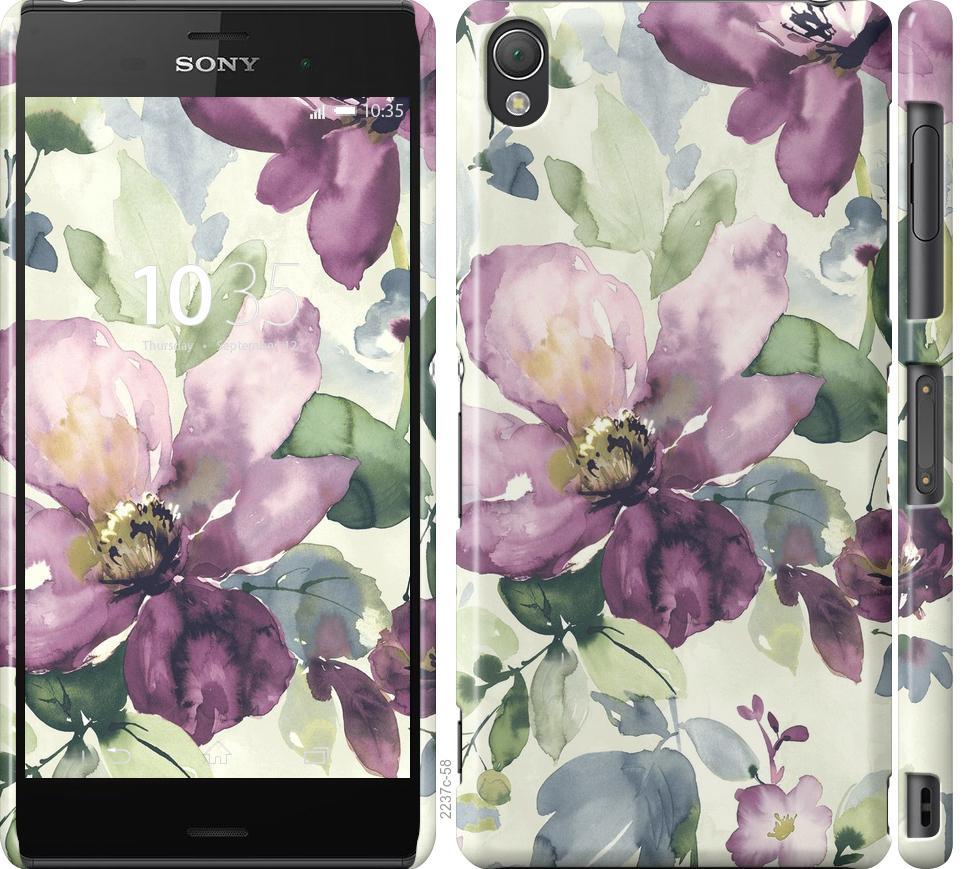 Чехол на Sony Xperia Z3 D6603 Цветы акварелью