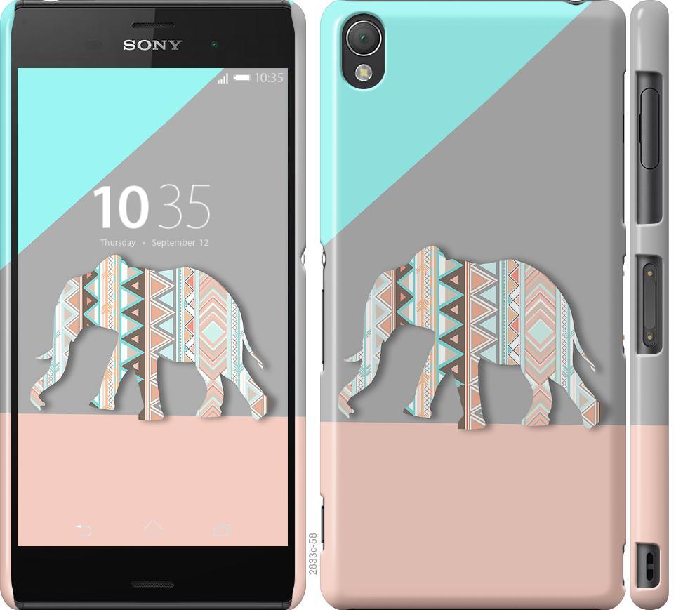Чехол на Sony Xperia Z3 D6603 Узорчатый слон