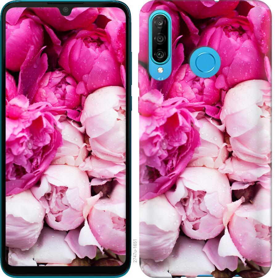 Чехол на Huawei Honor 10i Розовые пионы
