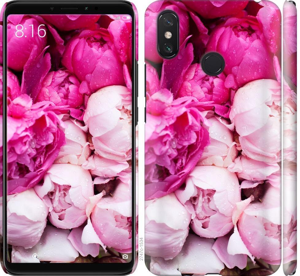 Чехол на Xiaomi Mi Max 3 Розовые пионы