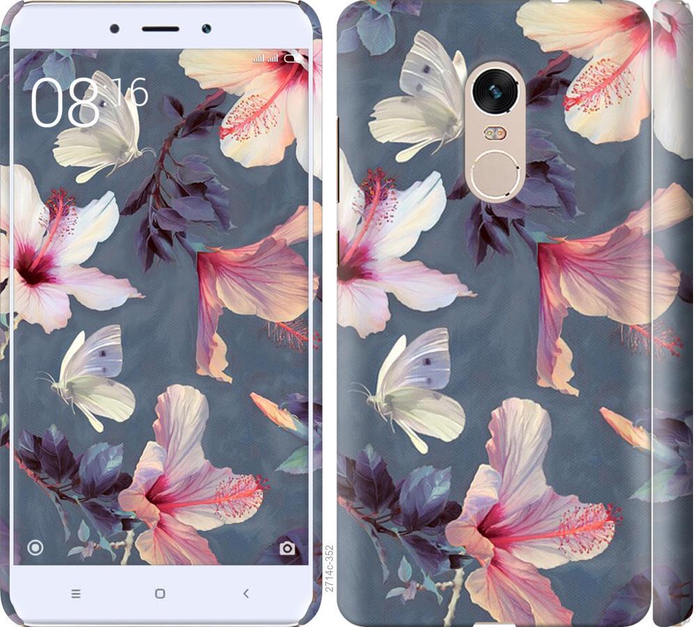 Чохол на Xiaomi Redmi Note 4 Намальовані квіти