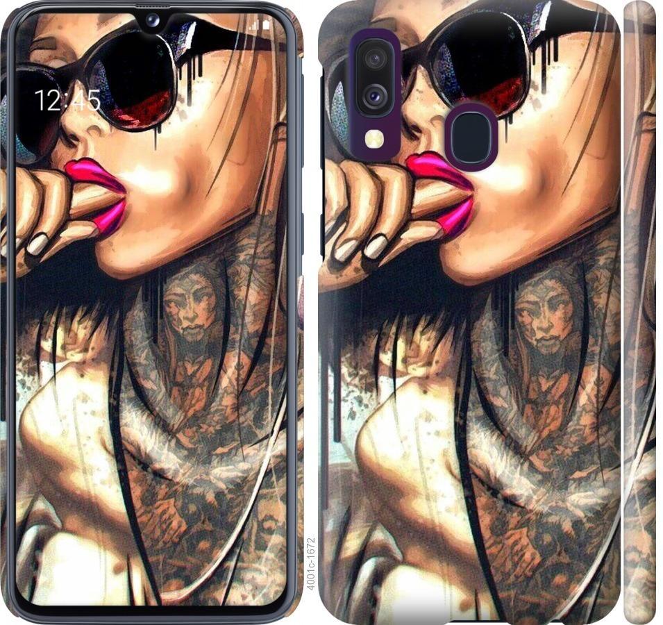 Чехол на Samsung Galaxy A40 2019 A405F Девушка в тату
