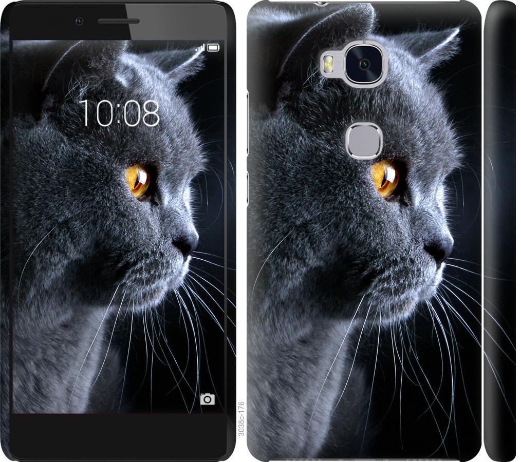 Чехол на Huawei Honor 5X Красивый кот
