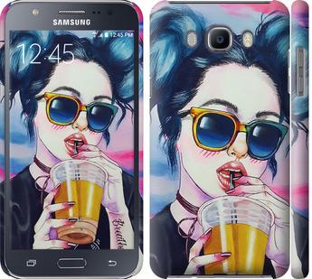 Чехол на Samsung Galaxy J7 (2016) J710F Арт-девушка в очках
