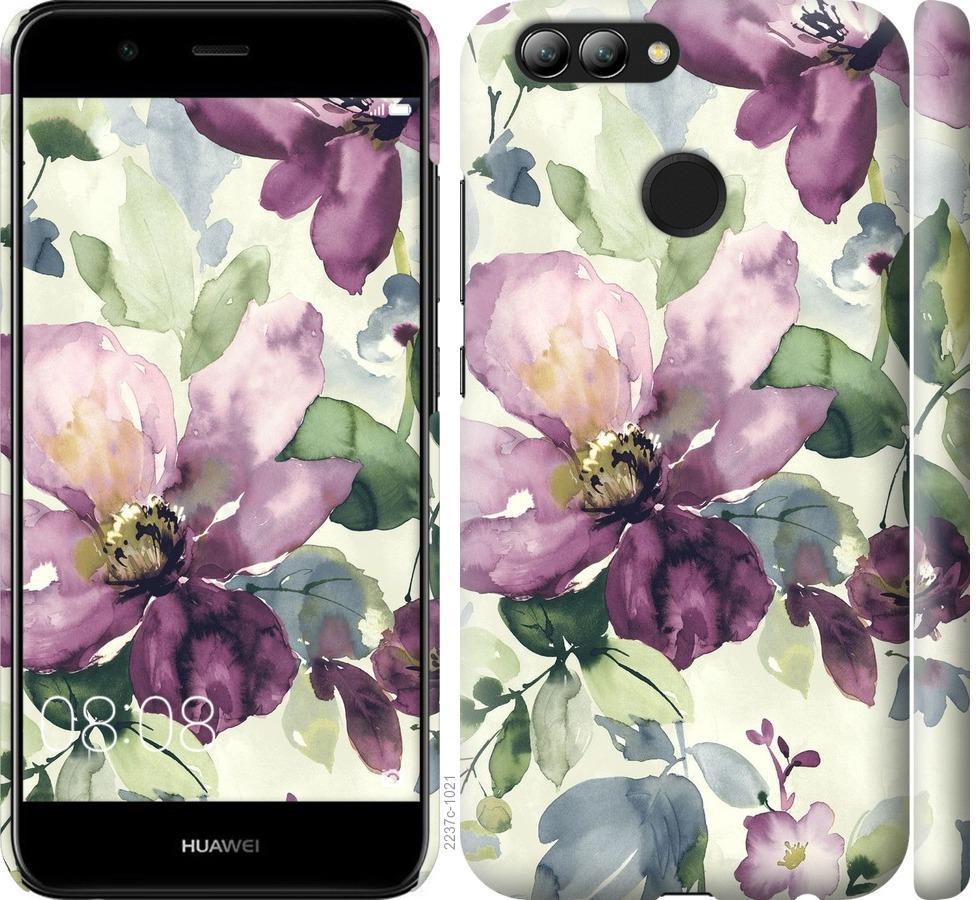 Чехол на Huawei Nova 2 Цветы акварелью