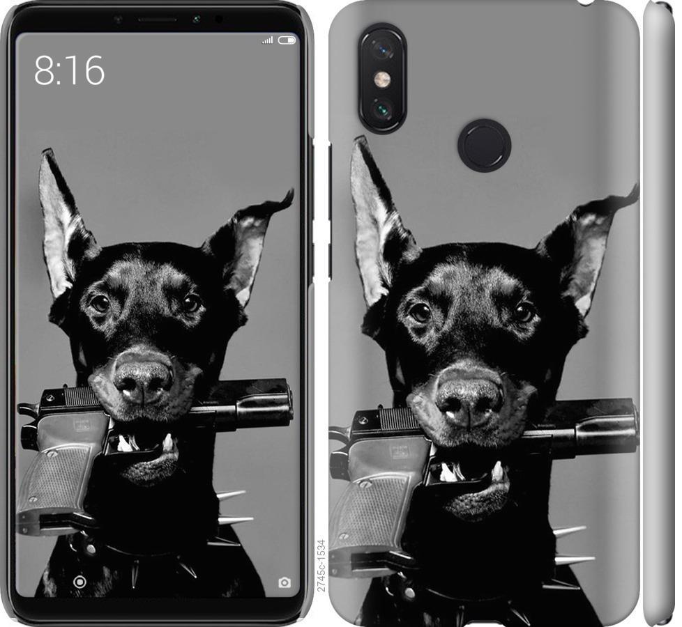 Чехол на Xiaomi Mi Max 3 Доберман