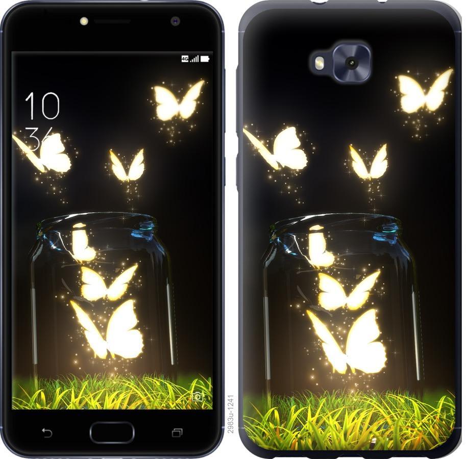 Чехол на Asus ZENFONE 4 SELFIE / ZD553KL Светящиеся бабочки
