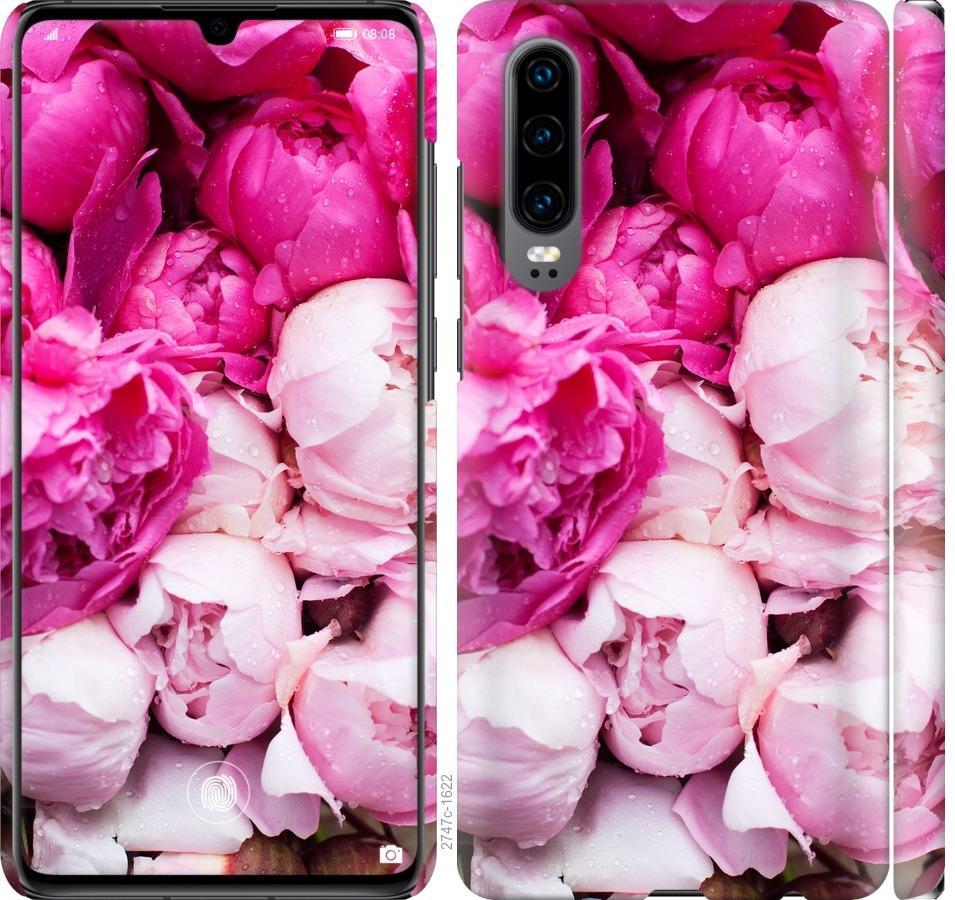 Чехол на Huawei P30 Розовые пионы