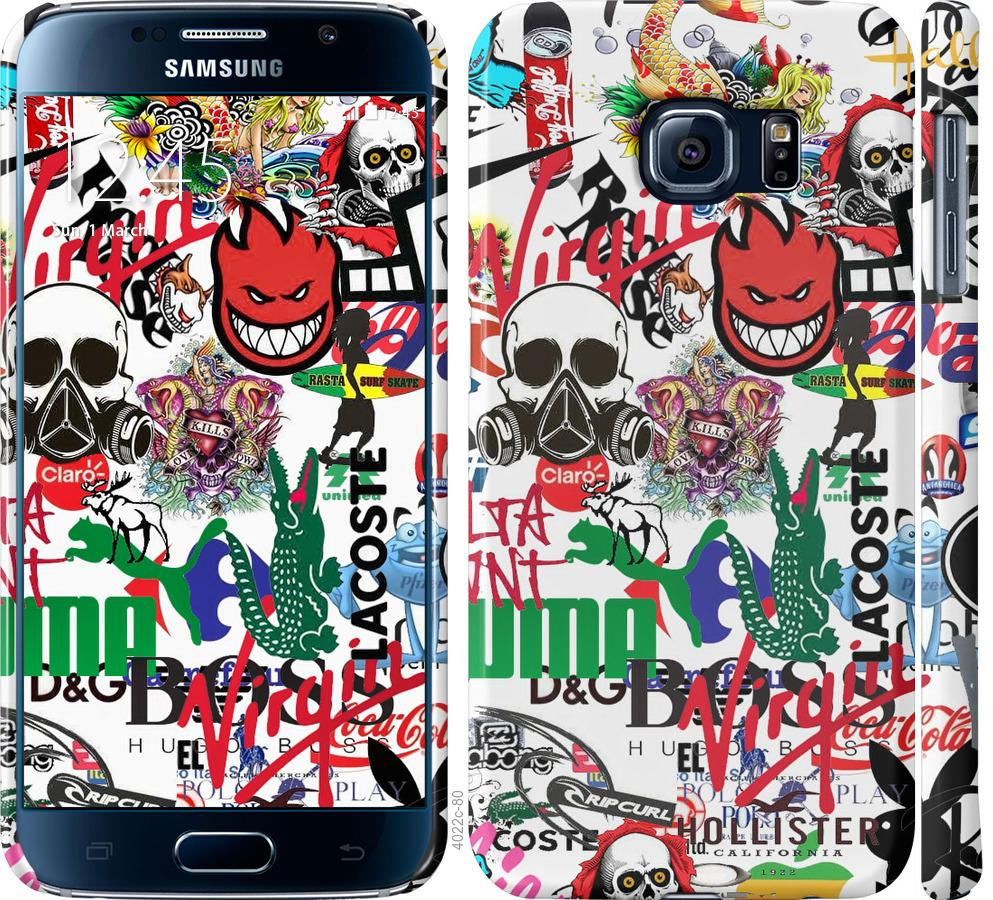 Чехол на Samsung Galaxy S6 G920 Many different logos