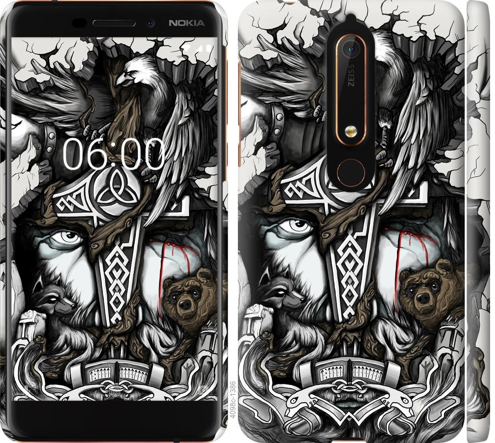 Чехол на Nokia 6.1 Тату Викинг