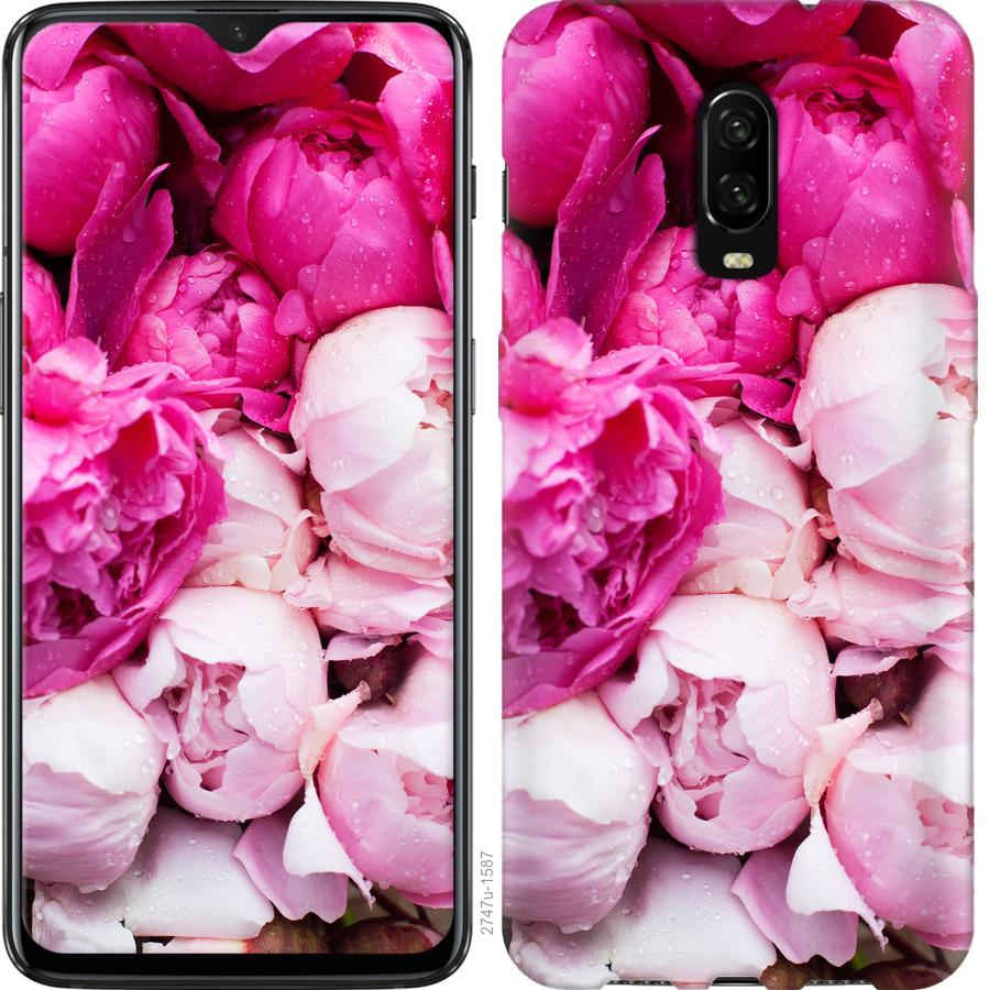 Чехол на OnePlus 6T Розовые пионы
